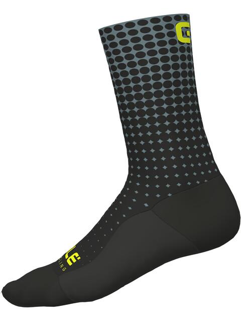 Alé Cycling Dots Socks nero-grigio/black-grey
